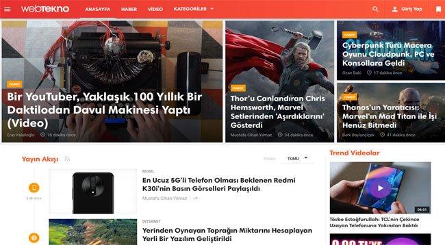 Teknolojiye Meraklı Herkesin Buluştuğu Sıra Dışı Haber Sitesi: Webtekno