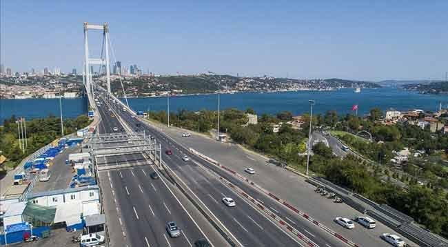 Sokağa Çıkma Kısıtlamasında Köprü ve Otoyollar Ücretsiz