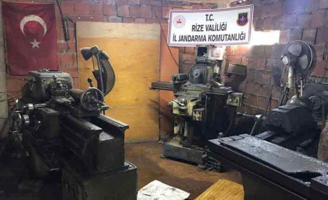Ardeşen'de Kaçak Silah Atölyesine Operasyon: 2 Gözaltı