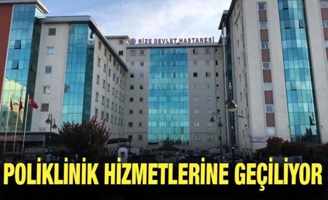 Rize'deki Hastaneler Kontrollü Normalleşeme Sürecine Geçiyor