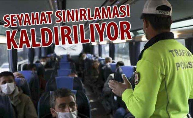 Şehirlerarası Seyahat Sınırlaması 1 Haziran'da Kaldırılıyor