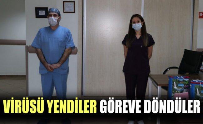 Koronavirüsü Yenen Hemşireler Alkışlarla Görevlerine Döndü
