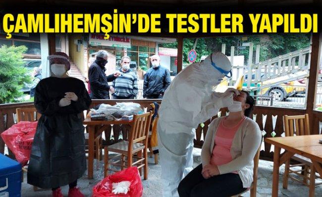 Kamu Çalışanları ve Esnafa Kovid-19 Testi Yapıldı