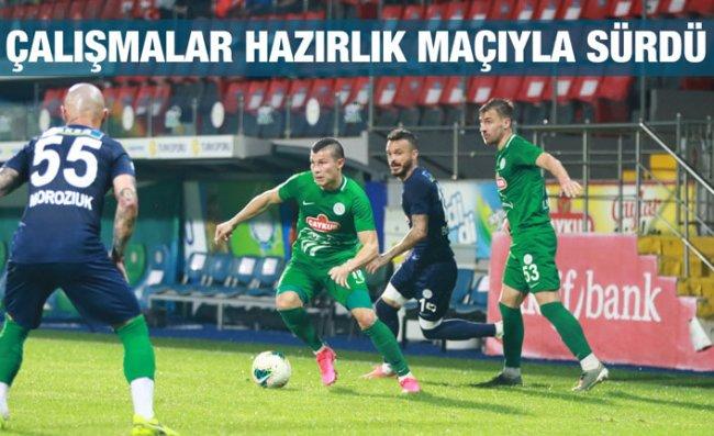 Çaykur Rizespor'da Galatasaray Hazırlıkları