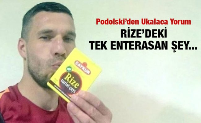 Podolski'den Çaykur Rizespor Açıklaması
