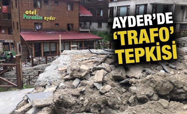 Ayder'deki Trafo Çalışmasına Turizmcilerden Tepki