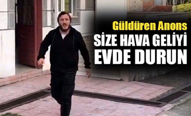 Cami Hoparlöründen Güldüren 'Evde Kalun' Anonsu