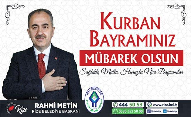 Başkan Metin'den 'Kurban Bayramı' Mesajı