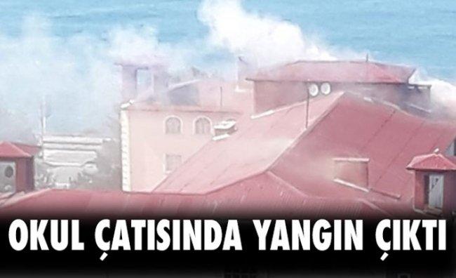 Okul Çatısında Çıkan Yangın Kontrol Altına Alındı