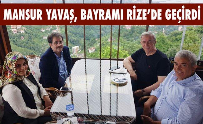 ABB Başkanı Yavaş, Bayramda Rize'yi Ziyaret Etti