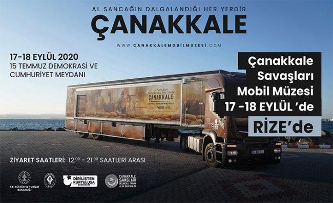 Çanakkale Savaşları Mobil Müzesi Rize'ye Geliyor