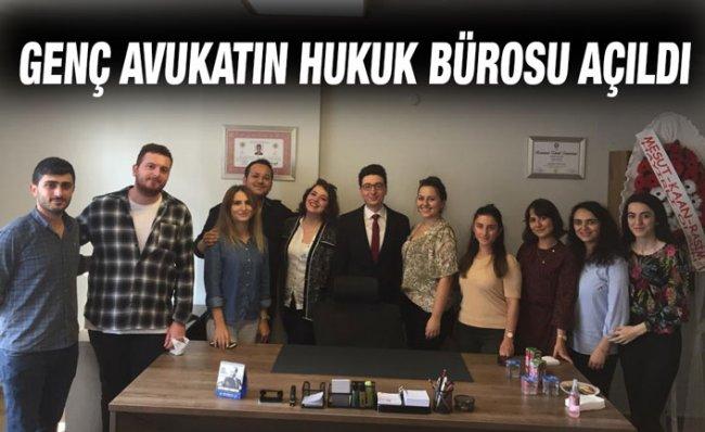 Rize'de Avukat Üzeyir Kaya, Hukuk Bürosunu Açtı
