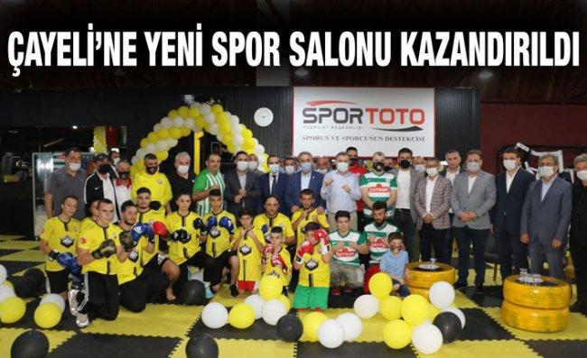 Çayeli Sportif Faaliyetler Spor Salonunu Açıldı