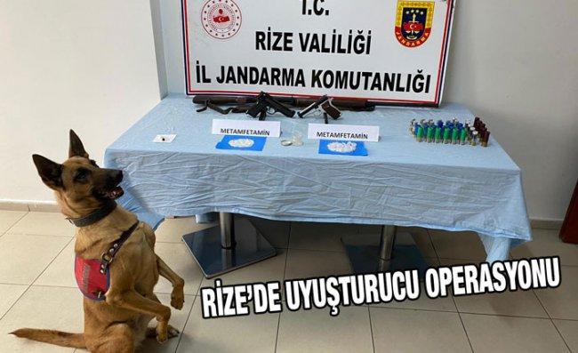 Rize'de Uyuşturucu Operasyonu Düzenlendi