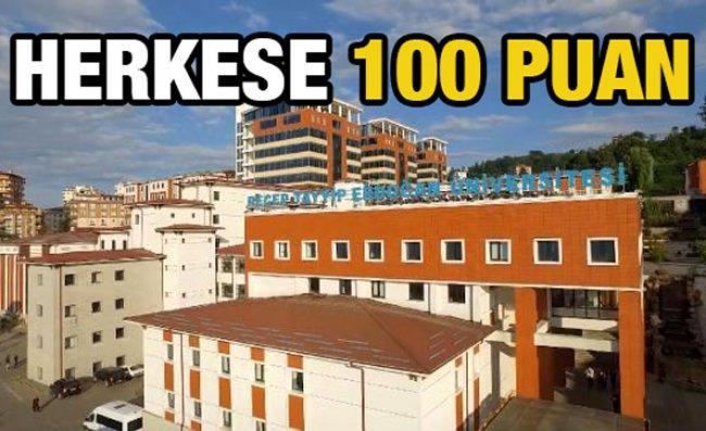 RTEÜ'de Mülakatta Katılanlara 100 Puan Uygulaması