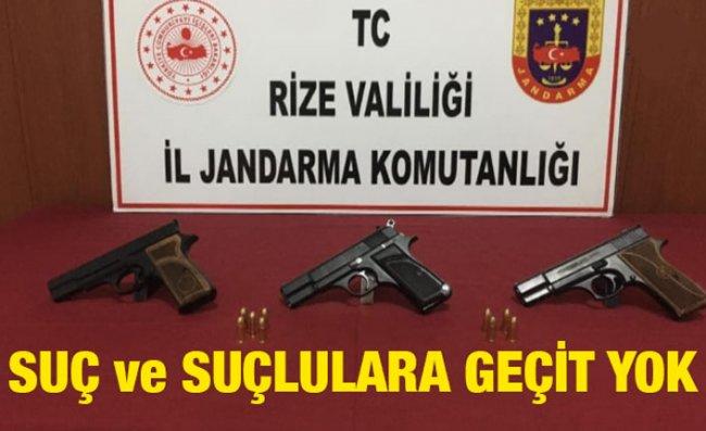 Rize'de Kasım Ayında Jandarma Operasyonları