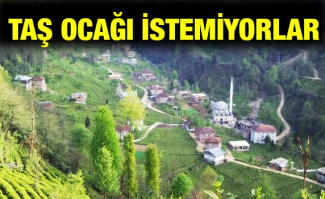 Bölge Halkı Başköy'de Taş Ocağı Yapılmasını İstemiyor
