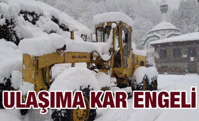 Rize'de Kar Nedeniyle 89 Köye Ulaşım Sağlanamıyor