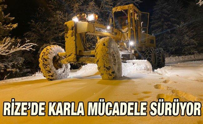 Rize'de Kar Nedeniyle 40 Köy Yolu Ulaşım Kapandı