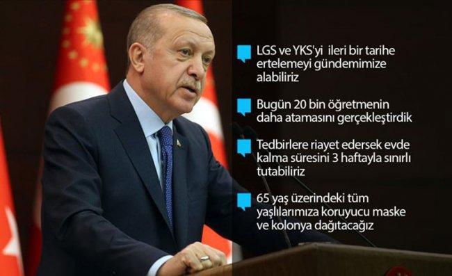 Erdoğan'dan 'Evden Çıkmayın' Çağrısı