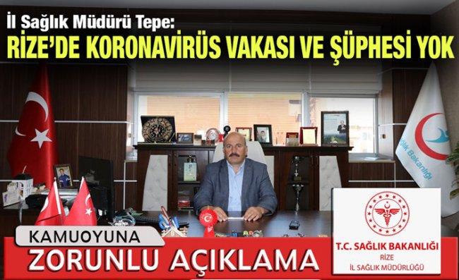 İl Sağlık Müdürü Tepe'den 'Koronavirüs' Açıklaması