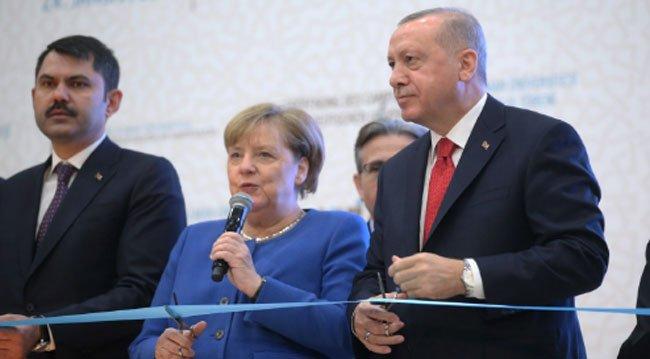 Erdoğan ve Merkel Kampüs Açılışına Katıldı