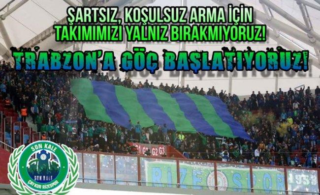Çaykur Rizespor Taraftarlarından Trabzonspor Maçına Davet