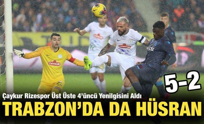 Çaykur Rizespor 'Karadeniz Derbisi'ni Farklı Kaybetti