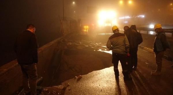 Karadeniz Sahil Yolu'nda Ana İsale Hattı Patladı