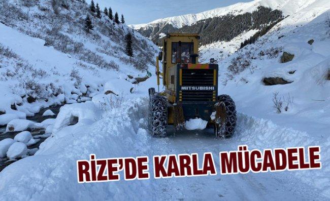 Rize'nin Yüksek Kesimlerinde Kar Yağışı Etkili Oldu