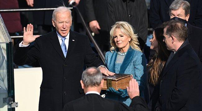 Joe Biden, Yemin Ederek ABD'nin 46. Başkanı Oldu