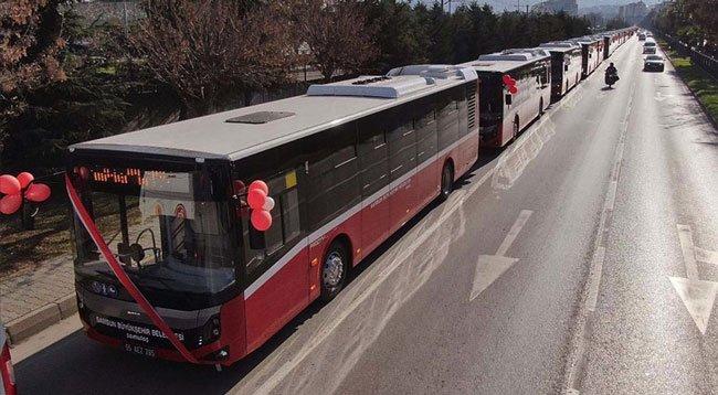 Samsun'da Şehir İçi Ulaşım İçin Alınan Otobüsler Sefere Başladı
