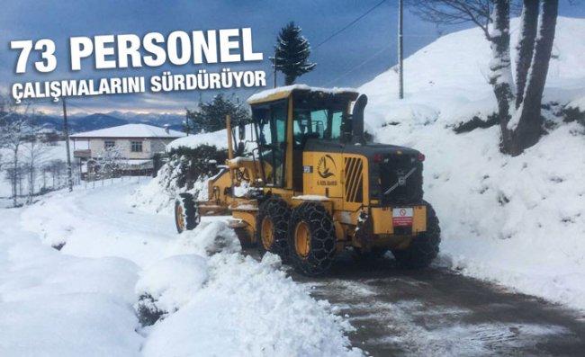 Rize'de 39 Köy Yolu Kar Nedeniyle Ulaşıma Kapandı