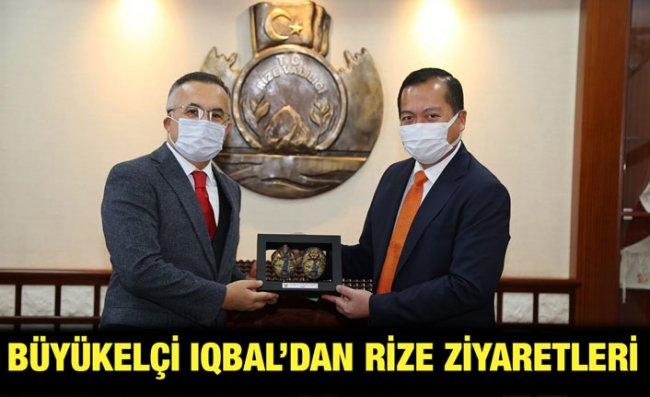 Endonezya Ankara Büyükelçisi Iqbal, Rize'de Temaslarda Bulundu