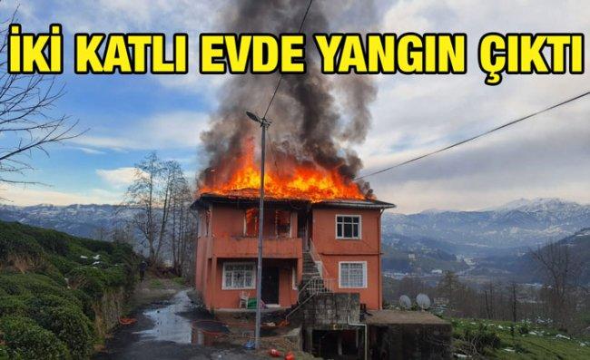 Yangında Evin İkinci Katı Kullanılamaz Hale Geldi
