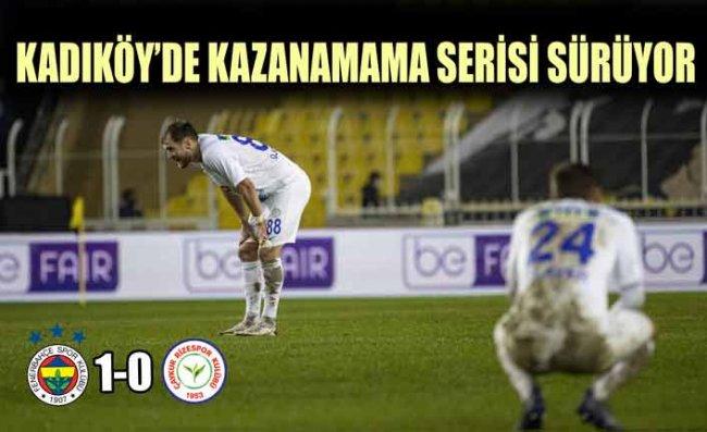 Çaykur Rizespor, Fenerbahçe Deplasmanından Puansız Dönüyor