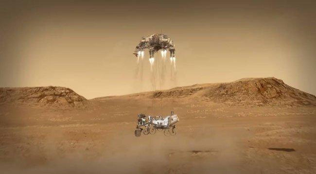 NASA'nın Uzay Aracı Perseverance, Mars'a İniş Yaptı