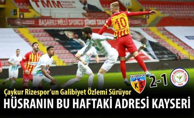 Çaykur Rizespor'un Galibiyet Hasreti 8 Maça Çıktı