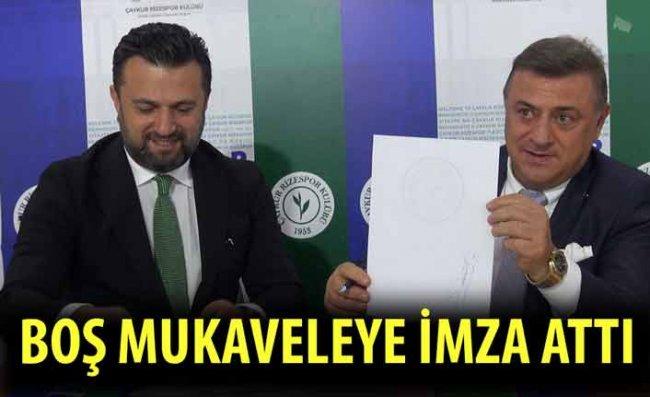 Bülent Uygun, Çaykur Rizespor'da Boş Mukaveleyi İmzaladı