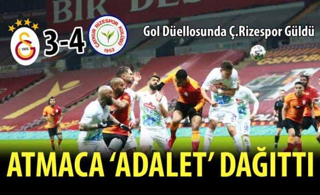 İstanbul'daki 7 Gollü Düellonu Galibi Çaykur Rizespor: 3-4