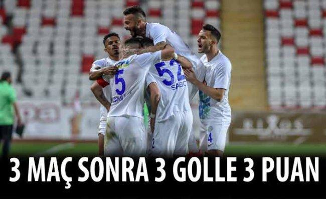 Çaykur Rizespor Antalya'dan 3 Puanla Dönüyor