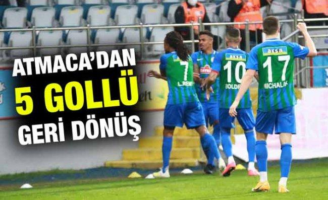 Gol Düellosunda Gülen Taraf Çaykur Rizespor Oldu: 5-3