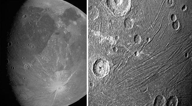 NASA, Ganymede'in Yakın Çekimlerini Paylaştı