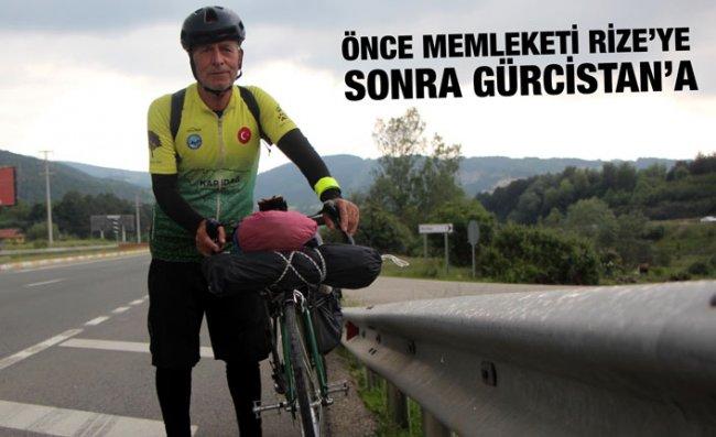 Bisikletiyle İstanbul'dan Gürcistan'a Gidiyor