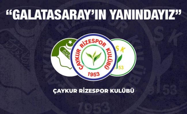 Çaykur Rizespor'dan Galatasaray'a Destek, Yunanistan'a Kınama