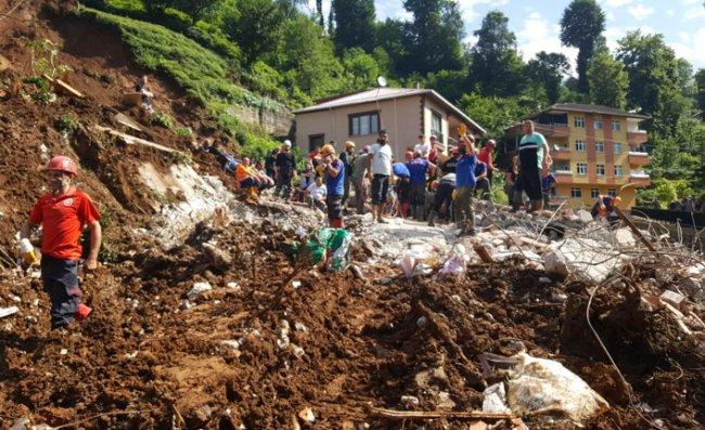 Rize'de selden etkilenen 188 kişiye psikososyal destek
