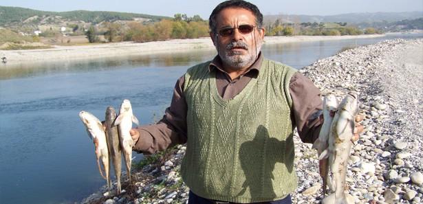 Osmaniye`de toplu balık ölümleri