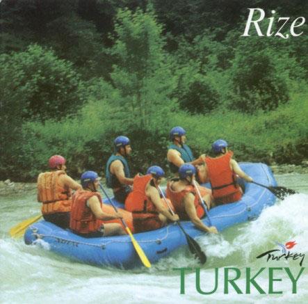 Rize`de Rafting Sporu