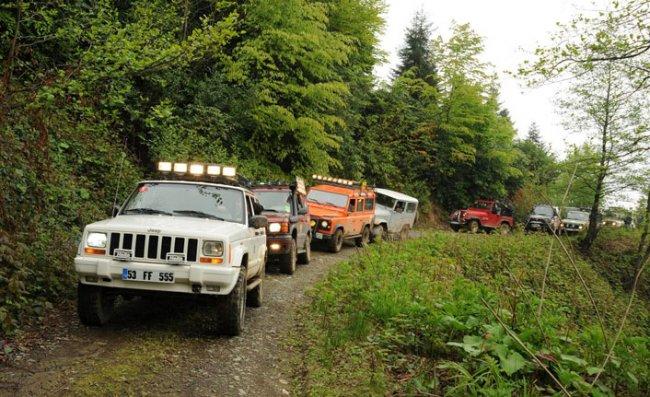 Rize'de Jeep Safari