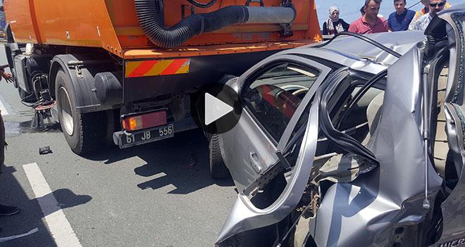 Rize`de Trafik Kazası 1 Ölü 1 Yaralı VİDEO/TIKLA
